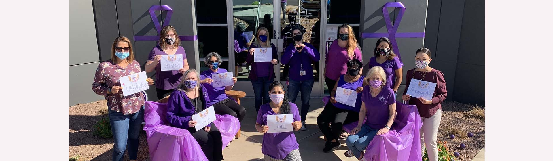 SAFE House Staff Domestic Violence Organization DV Awareness Month